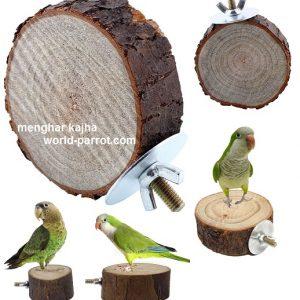 نشیمنگاه طوطی چوب طبیعی