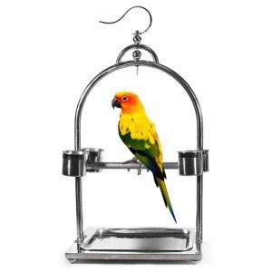 استند استیل جایگاه پرندگان طوطی ها