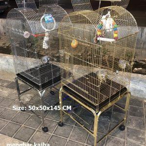 قفس پرندگان زینتی استیل و گلد