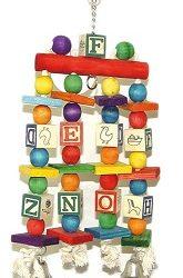 اسباب بازی پر مهره رنگارنگ چوبی طوطی
