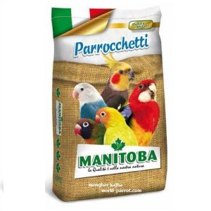 Parrocchetto Manitoba Sacco Stemma Miglio Bianco Miscuglio Canarini Esotici Pappagalli Girasole Panico Perilla