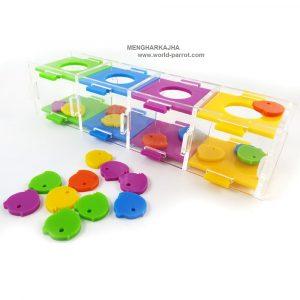 اسباب بازی فکری پازل تشخیص رنگ و چیدمان قطعات